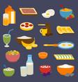 healthy nutrition breakfast proteins fats vector image