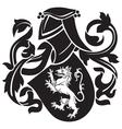heraldic silhouette No18 vector image vector image