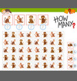 how many monkeys activity vector image vector image