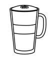 iced delicious coffee icon vector image vector image