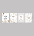 marble gold texture card wedding invitation vector image vector image