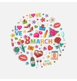 March circle vector image vector image