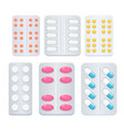 medicine painkiller pills vector image