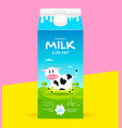 milk package template vector image vector image