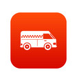 minibus taxi icon digital red vector image vector image