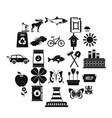 natural resources icons set simple style vector image vector image