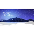 night pine forest snowfall background happy new vector image vector image