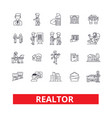 realtor broker negotiator real estate agent vector image