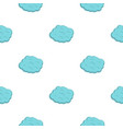 round cloud pattern flat vector image vector image