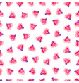 seamless pattern of pink heart light bulb vector image