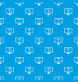 search job pattern seamless blue vector image vector image