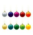 set christmas decorations vector image