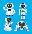 set of cute robots vector image