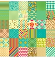 Set of seamless childish patterns vector image