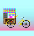 street bike selling ice cream vector image