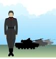 Tankman vector image vector image