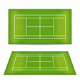 tennis court set tennis court with trampled down vector image