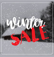 winter sale lettering design season shopping vector image vector image