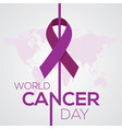 world cancer day concept february vector image
