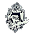Zombie skull vector image vector image