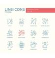 Fishing - line design icons set vector image