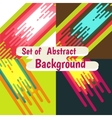 set of Abstract colorful curve background design vector image