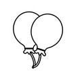 balloons celebration symbol vector image