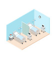 hospital ward isometric interior vector image