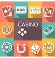 gambling related icons Poster Card and vector image