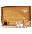 A dog and her puppies vector image vector image