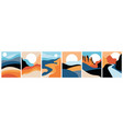 abstract landscape poster collection vector image