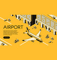airport freight logistics vector image vector image