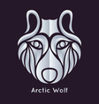 Arctic Wolf Icon vector image vector image