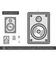 Audio speaker line icon vector image vector image