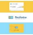beautiful id card logo and business card vertical vector image