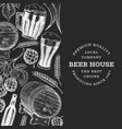 beer and hop design template hand drawn brewery vector image vector image
