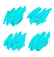 blue brush stroke isolated on white background vector image vector image