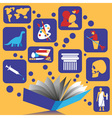 book and knowledge vector image