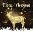 Christmas background with glittery deer vector image vector image