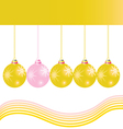 christmas decoration ball in gold color vector image vector image