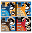 colorful guitar and speaker systems vector image vector image