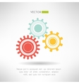 Colorfull gears icons set Business teamwork vector image vector image