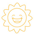 coloring page of cartoon sun vector image vector image