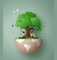 concept of ecology and environment vector image vector image