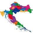 Croatia map vector image vector image