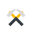 crossed hammers logo vector image