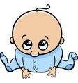 cute baby boy cartoon vector image vector image