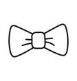 cute ribbon banner cartoon vector image