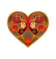 decorative red abstract heart vector image