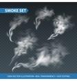 Delicate white cigarette smoke waves on